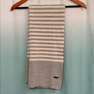 J. crew-OS-cream & gray, oversized scarf